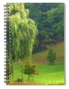 Trees Along Hill Spiral Notebook