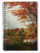 Trees Along The Canal Spiral Notebook