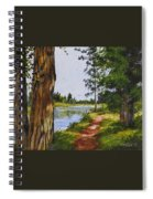 Trees Along The River Spiral Notebook