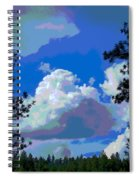 Trees And A Cloud For Crying Out Loud Spiral Notebook
