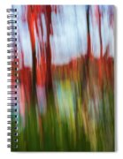 Trees And Lake Spiral Notebook