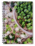 Trees And Path From Above Drone Photography Spiral Notebook