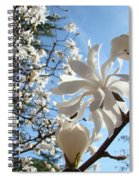 Trees Art Prints White Magnolia Flowers Baslee Troutman Spiral Notebook