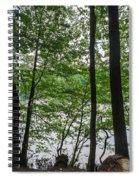 Trees At Lake Schlachtensee Spiral Notebook