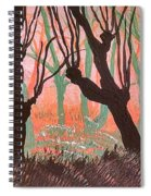 Trees At Sunset Spiral Notebook