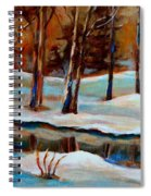 Trees At The Rivers Edge Spiral Notebook