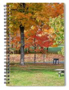 Trees Begins Autumn Color Spiral Notebook