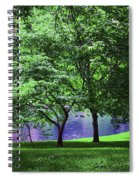 Trees By A Pond Spiral Notebook