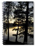 Trees By The Lake Spiral Notebook