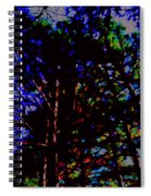 Trees In Abstract 3 Spiral Notebook