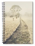 Trees In Fog And Mist Spiral Notebook