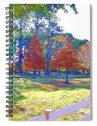 Trees In Park 1 Spiral Notebook