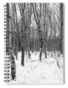 Trees In Winter Snow, Black And White Spiral Notebook