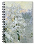 Trees In Wintry Silver Spiral Notebook