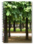 Trees Of Tuilieres Spiral Notebook