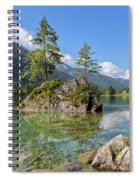 Trees On A Rock, Hintersee Spiral Notebook