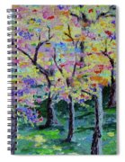 Trees On Hideaway Ct Spiral Notebook