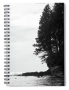 Trees Over The Ocean Spiral Notebook