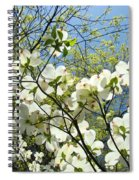 Trees Sunlit White Dogwood Art Print Botanical Baslee Troutman Spiral Notebook
