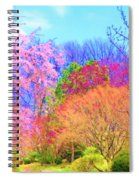 Trees With Color Spiral Notebook