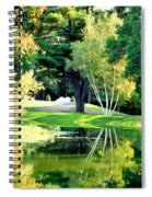 Trees With Mirror Lake 2 Spiral Notebook