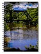 Trestle Over River Spiral Notebook