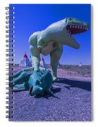 Trex And Triceratops  Spiral Notebook