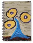 Triangular Blue Spiral Notebook