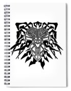 Tribal Lion Alpha Spiral Notebook