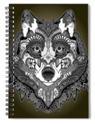 Tribal Wolf Spiral Notebook