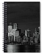 Tribute In Light  # 7 - B  And  W Spiral Notebook