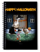 Trick Or Treat Time For Little Ducks Spiral Notebook
