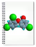 Triclosan Molecule Spiral Notebook