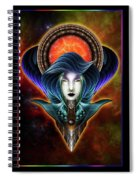Trilia Red Nebula Fractal Art Portrait Spiral Notebook