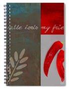 Trilioli Kitchen Decor - Red 153z Spiral Notebook