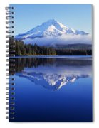 Trillium Lake With Reflection Of Mount Spiral Notebook