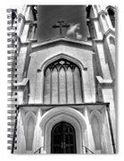 Trinity Episcopal Cathedral Black And White Spiral Notebook