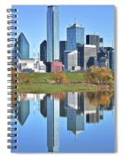 Trinity Park Water Reflects The Big D Spiral Notebook