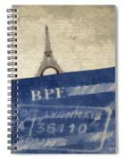 Trip To Paris Square Pillow Size Spiral Notebook
