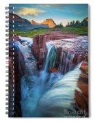 Triple Falls Cascades Spiral Notebook