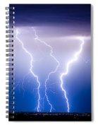 Triple Lightning Spiral Notebook