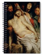 Triptych Of Christ On The Straw Spiral Notebook