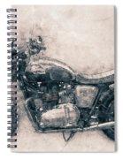 Triumph Bonneville - Standard Motorcycle - 1959 - Motorcycle Poster - Automotive Art Spiral Notebook