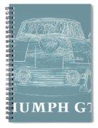 Triumph Gt6 Plus Spiral Notebook