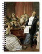 Triumph Of A Tenor At A Musical Matinee Spiral Notebook