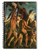 Triumph Of Bacchus 1514 Spiral Notebook