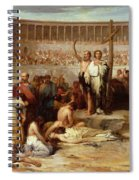 Triumph Of Faith    Christian Martyrs In The Time Of Nero Spiral Notebook