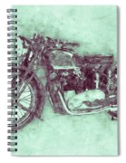Triumph Speed Twin 3 - 1937 - Vintage Motorcycle Poster - Automotive Art Spiral Notebook