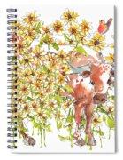 Trivia Too A Texas Longhorn Sunflowers Lh072 Spiral Notebook