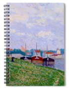 Trois P Niches Amarr Es Aux Abords D Une Ville Industrielle 1886 Spiral Notebook